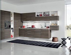 Cucina Aran cucine moderna ad angolo larice in laminato materico Cucina mod.eva in laminato larice grigio ad angolo scontata del 30%