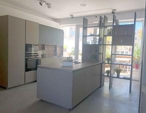 Cucina Aran cucine moderna ad isola grigio in laccato lucido Lab13