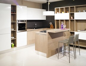 Cucina Aran cucine moderna con penisola bianca in laccato lucido Bella