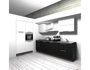 Cucina Aran cucine moderna lineare bianca in polimerico lucido Cucina componibile mod.eva in polimerico bianco scontata del 40%