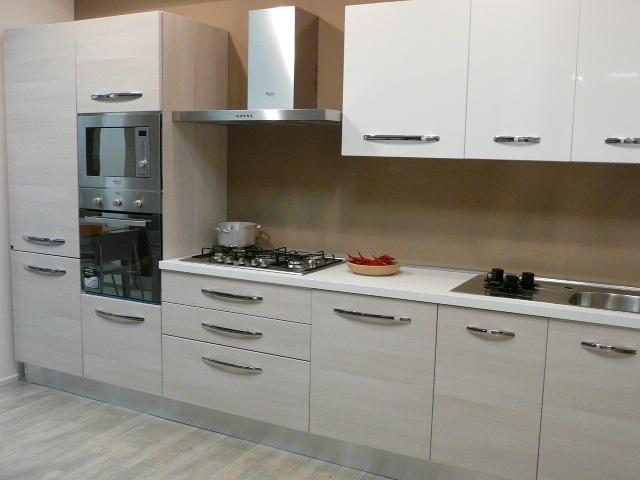 Cucina aran cucine cucina modello eureka moderna polimerico lucido neutra cucine a prezzi scontati - Cucina aran mia ...