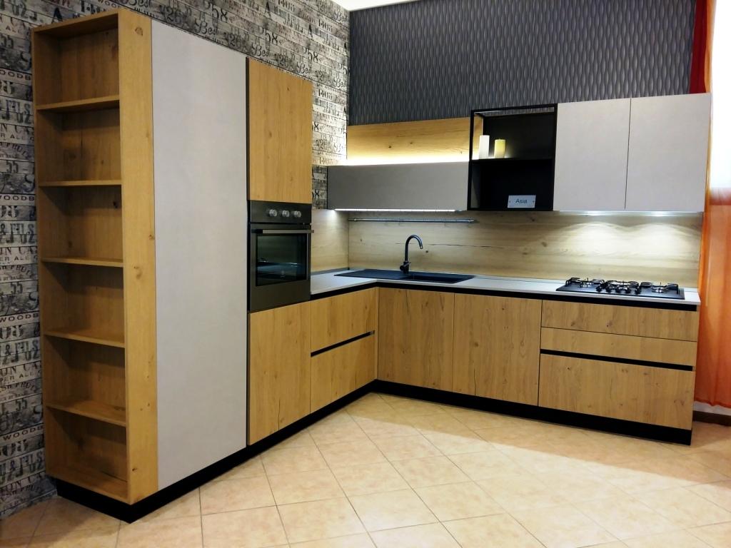 Cucina arredo3 asia design legno rovere chiaro cucine a prezzi scontati - Cucine in legno chiaro ...
