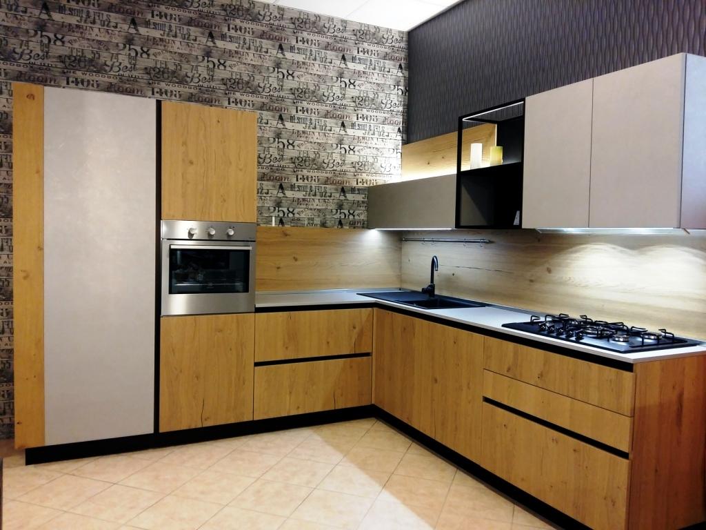 Cucina arredo3 asia design legno rovere chiaro cucine a for Arredo cucina design