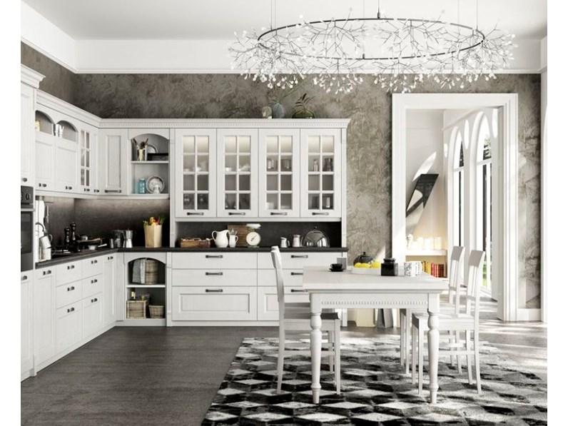 Cucina arredo3 country ad angolo bianca in legno virginia - Arredo cucina country ...
