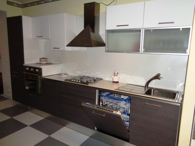 Arredo3 Cucina Cucina siria arredo 3 rovere grigio bianco lucido ...