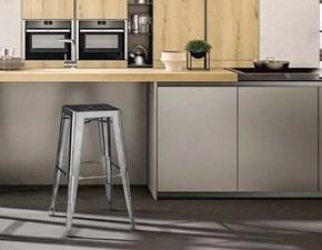 Cucina Arredo3 design lineare altri colori in laminato lucido Doha elettrodomestici