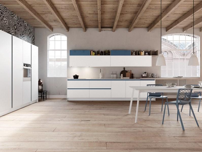 Cucina arredo3 glass in vetro opaco di arredo 3 scontato for Arredo cucina design