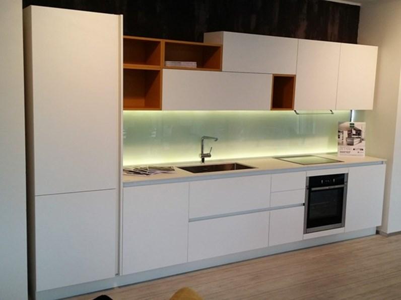 Cucina Arredo3 Kali laminato bianco seta Design Laminato Opaco
