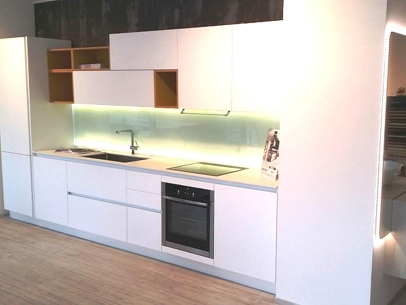 Cucina Arredo3 Kali laminato bianco seta Design Laminato Opaco ...