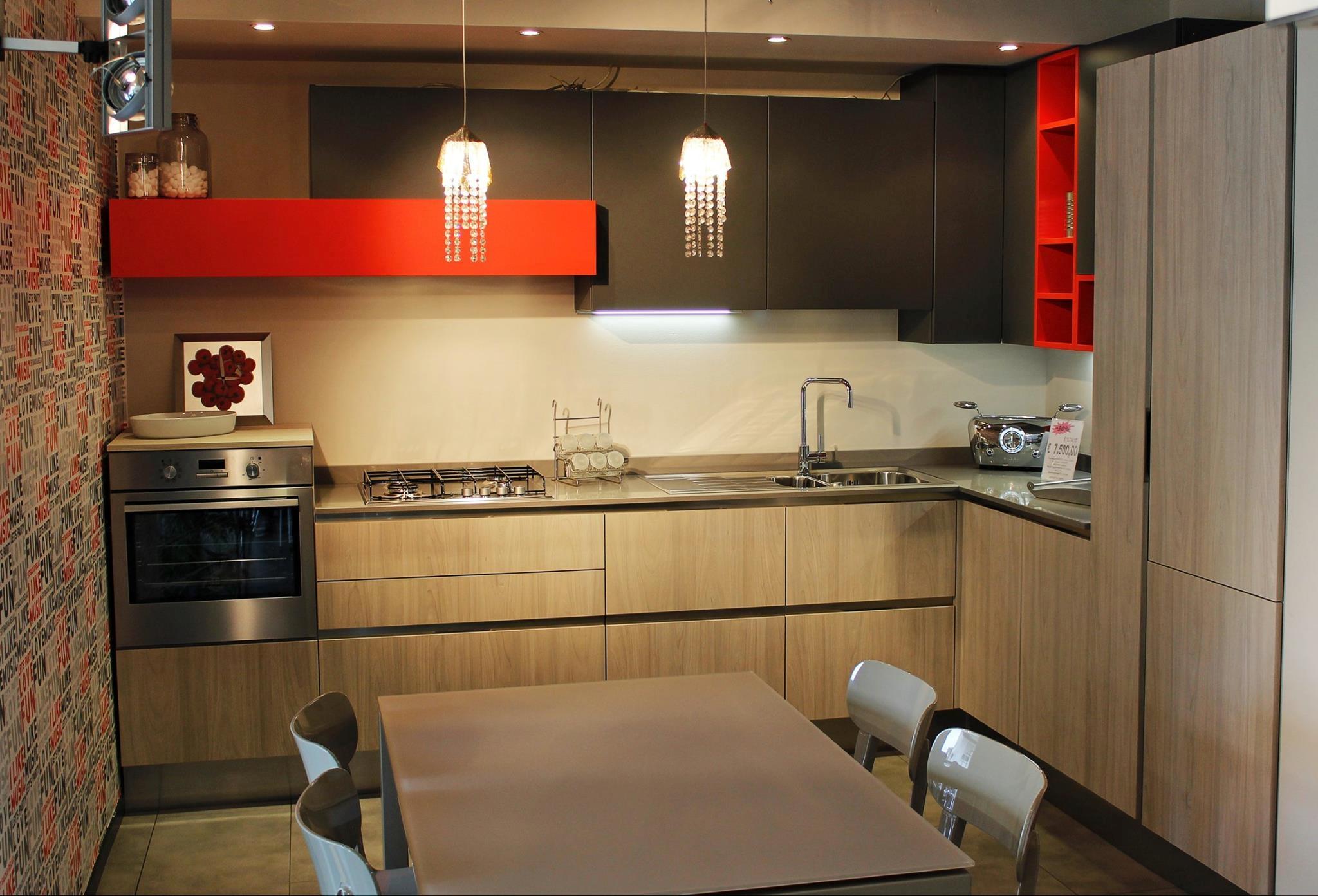 Cucina arredo3 linea luna moderna cucine a prezzi scontati for Cucina verona arredo 3