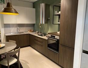 Cucina Arredo3 moderna ad angolo noce in laminato opaco Kalì