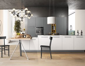 Cucina Arredo3 moderna ad isola bianca in polimerico opaco Polimerico