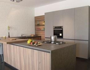 Cucina Arredo3 moderna ad isola grigio in laminato materico Zeta6