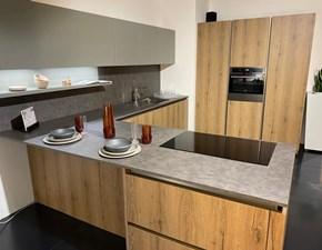 Cucina Arredo3 moderna con penisola altri colori in laminato materico Kali