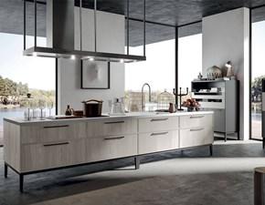 Cucina Arredo3 moderna lineare bianca in legno Aria
