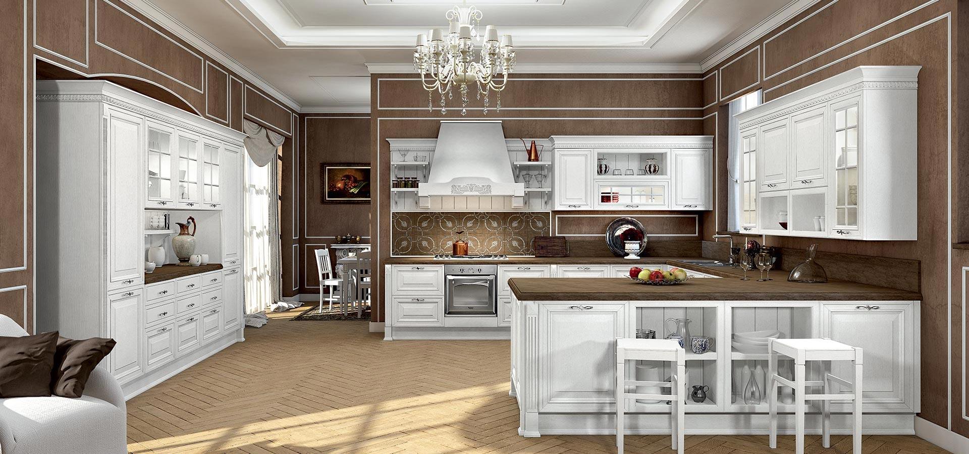 Arredo 3 cucine modello viktoria provenzale legno cucine - Cucina provenzale bianca ...