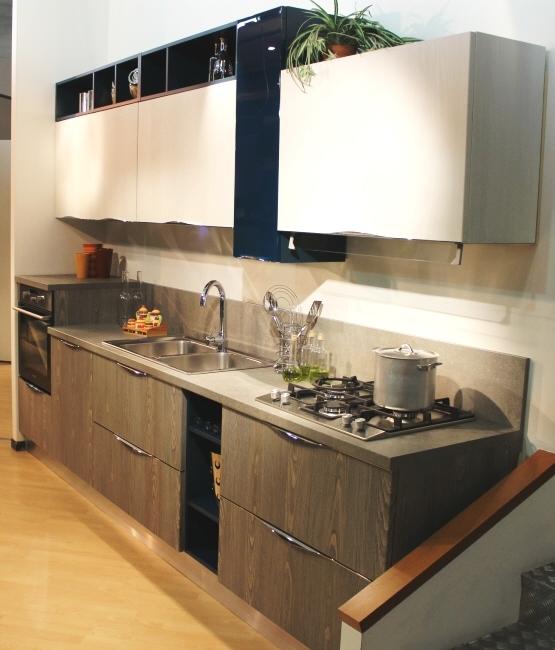 Cucina lineare 3 metri Arredo3 modello Wood - Cucine a prezzi scontati