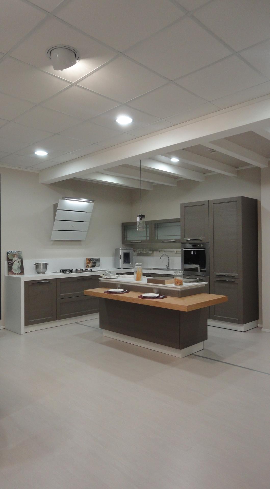 Cucina arrex 1 bianca inglese legno neutra cucine a - Cucina legno bianca ...