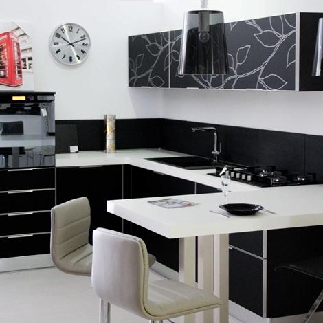 outlet Cucina Arrex-1 Cristallo Design Vetro Neutra