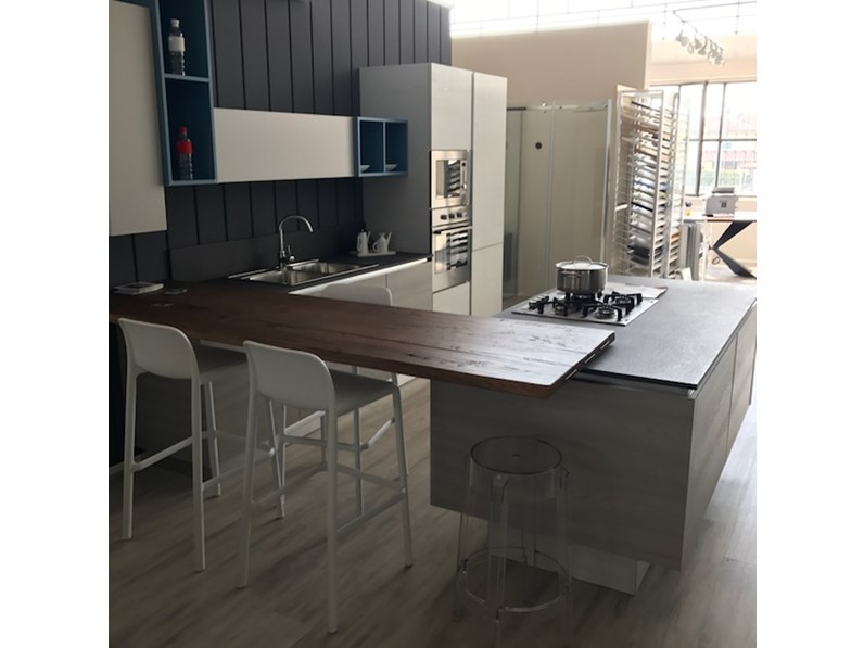 Cucina Arrex-1 Mango Moderne Laminato Materico Tortora - Cucine a ...