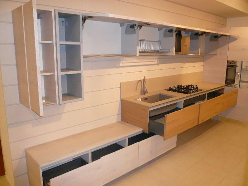 Cucina arrex 1 zenzero moderna legno rovere chiaro - Cucine in legno chiaro ...