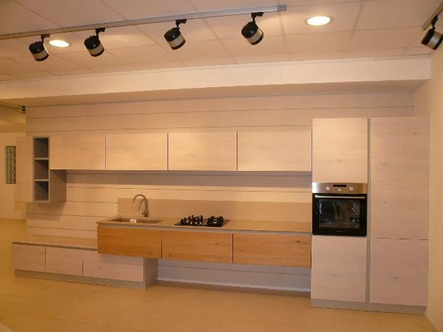 Cucina arrex 1 zenzero moderna legno rovere chiaro cucine a prezzi scontati - Cucine moderne in legno naturale ...