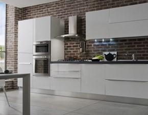 Cucina Arrex-2 moderna lineare bianca in laccato lucido Easy 2