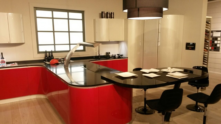 arrex cucina ducati design laccato lucido rossa  cucine a, Disegni interni