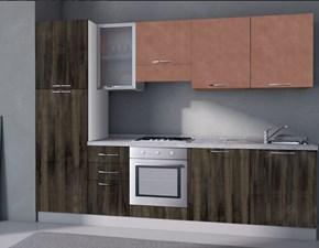 Cucina Arrex moderna lineare altri colori in laminato materico Composizione da 285
