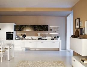 Cucina Arrex moderna lineare bianca in laminato opaco Componibile