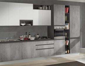 Cucina Arrisal moderna lineare bianca in laminato materico Cucina farelix