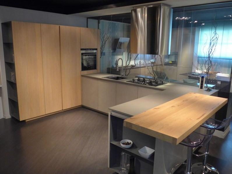 Cucina Arrital cucine Ak05 Moderne Resina Cementizia Tortora