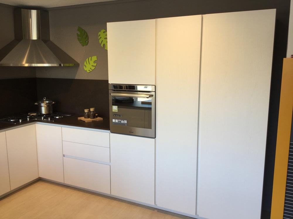 Cucina Arrital cucine Bianca e cemento Moderna Legno ...