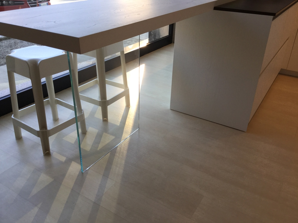Cucina Arrital cucine Bianca e cemento Moderna Legno bianche - Cucine a prezz...