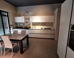 Cucina Arrital cucine design lineare bianca in laccato opaco Ak 05