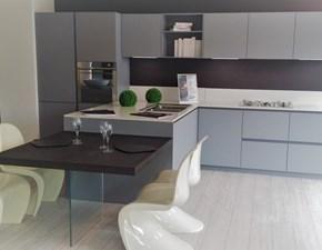 Cucina Arrital cucine Ak03 arrital laccato goffrato grigio opaco scontato del -52 %