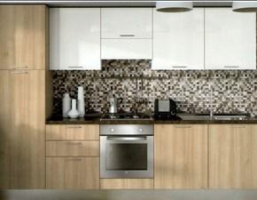 Cucina Artec moderna lineare ciliegio in laminato materico Paragon