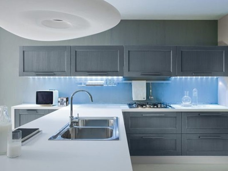 Cucina artec vintage blu for Sedie blu cucina