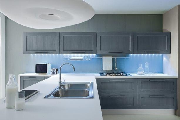 Cucina artec vintage blu cucine a prezzi scontati for Sedie blu cucina