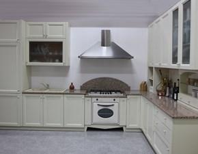 Cucina Artigianale classica ad angolo altri colori in laccato opaco U806 greca