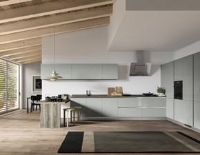 CUCINA Artigianale Cucina componibile mod.sally in polimerico lucido grigio PREZZO OUTLET