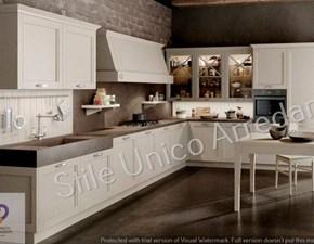Cucina Artigianale design ad angolo bianca in legno Denis