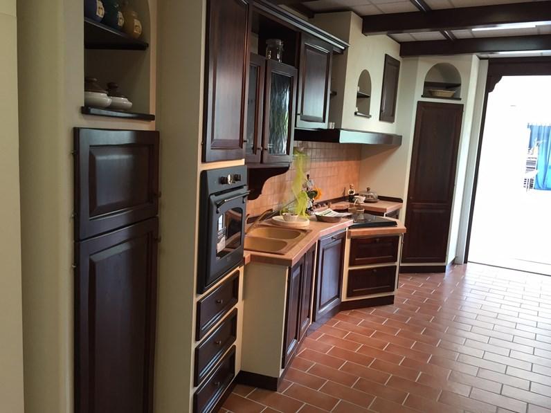 Cucina artigianale effetto muro prezzo outlet