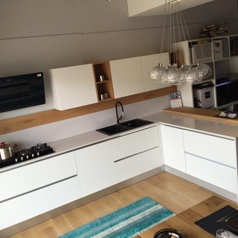 Cucina artigianale frassino bianco completa cucine a - Cucina completa mercatone uno ...