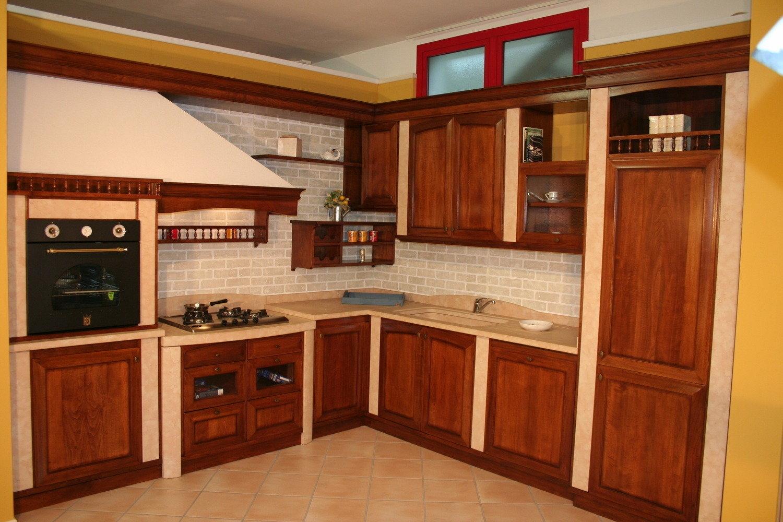 Cucina ARTIGIANALE in offerta 8598 - Cucine a prezzi scontati
