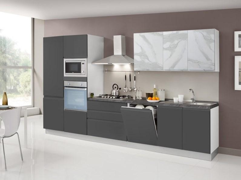 Cucina artigianale lineare asa arredamenti scontata for Di paolo arredamenti outlet