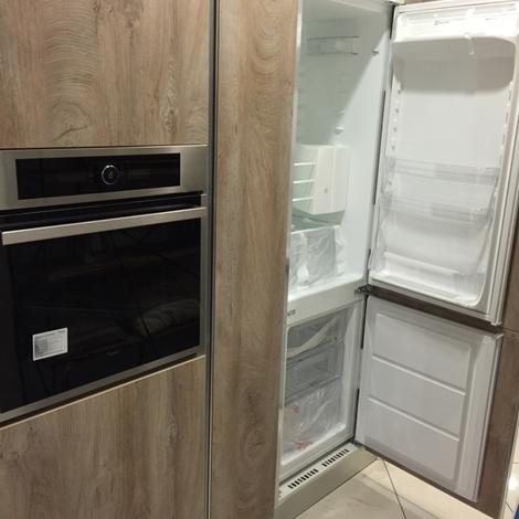 Cucina artigianale lineare bianca rovere completa di - Cucina 3 metri completa elettrodomestici indesit prezzi ...