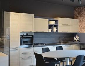 Cucina Artigianale moderna lineare bianca in legno Cm03