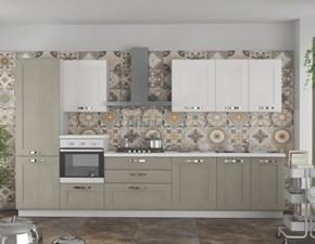 Cucina Artigianale moderna lineare grigio in legno Kelly