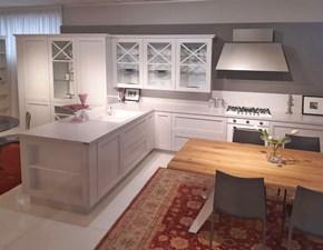 Cucina Artigianale provenzale con penisola bianca in legno Shabby